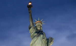 optimism statue of liberty