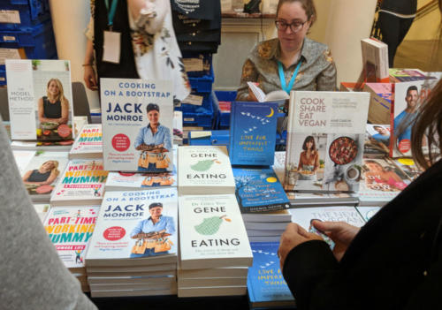 Waterstones offered titles authored by speakers at the Edinburgh Wellbeing Festival.