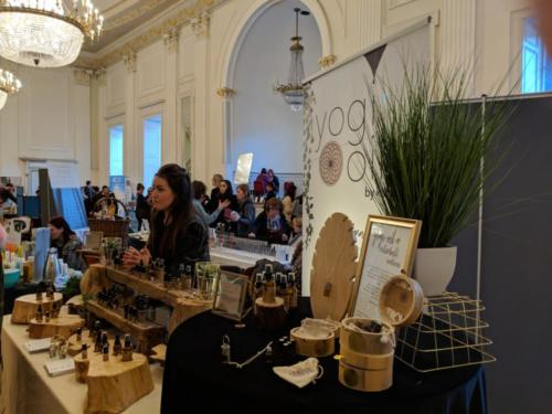 Natural plant essences were well represented by several suppliers, including Yogi Oils.